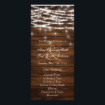 """Wood string lights wedding programs<br><div class=""""desc"""">These Chalkboard programs are perfect for modern rustic weddings with an elegant and southern touch.</div>"""