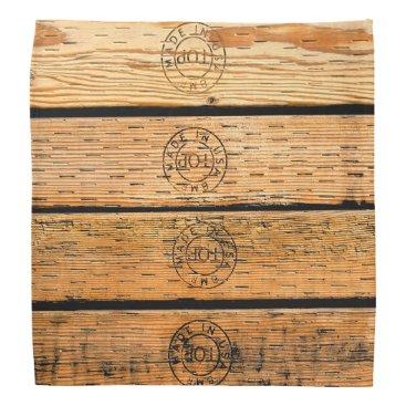 USA Themed Wood Stripes Made in USA Bandana