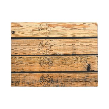USA Themed Wood Stripes Made in USA Doormat