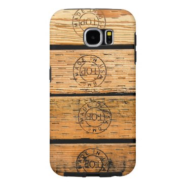USA Themed Wood Stripes Made in USA Samsung Galaxy S6 Case