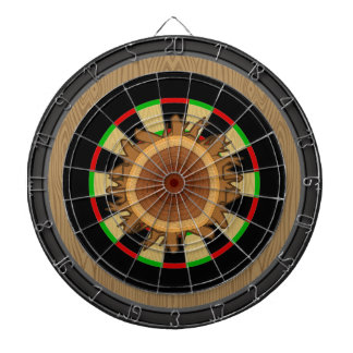 Wood Stump with Wood Grain Target Dartboard