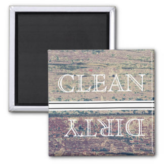 Wood Style Dishwasher Magnet Clean & Dirty