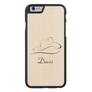 Wood Style Personalized Phone Case With Cowboy Hat
