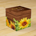 "Wood Sunflower Rustic Monogram Gift Wedding Favor Box<br><div class=""desc"">Favor boxes are as unique as your guests. Perfect for weddings,  birthdays,  corporate events and more!</div>"