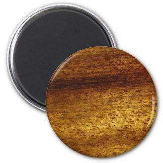 Wood teak 2 inch round magnet