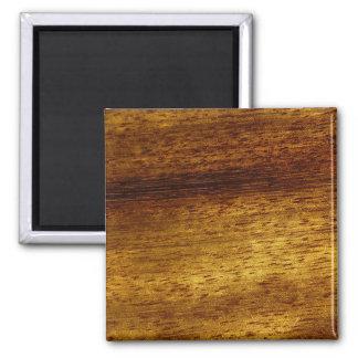 Wood teak 2 inch square magnet