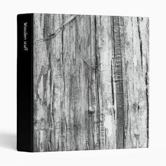Wood Texture 3 Ring Binder