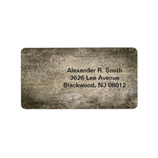 Wood Texture Address Label