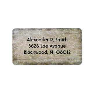 Wood Texture Address Labels