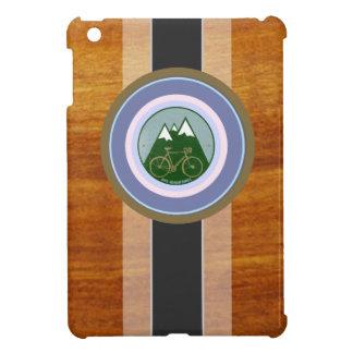 wood texture and bike iPad mini cases