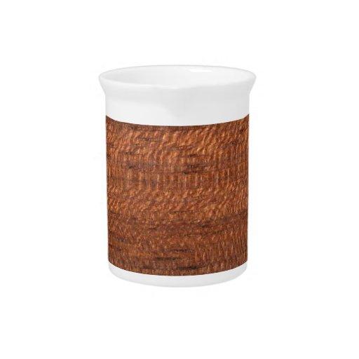 Wood texture beverage pitchers