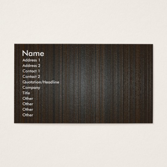 Wood texture business card