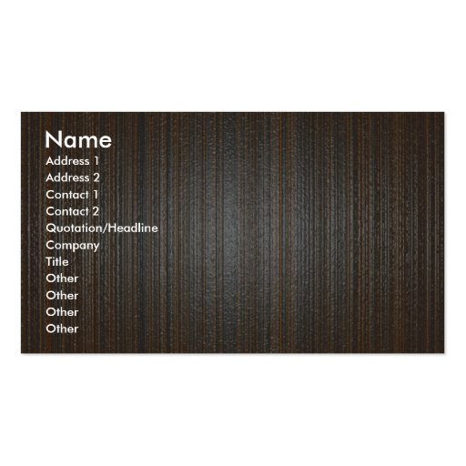 Wood texture business cards