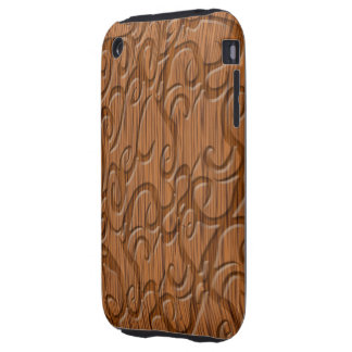 Wood texture cases brown tough iPhone 3 covers