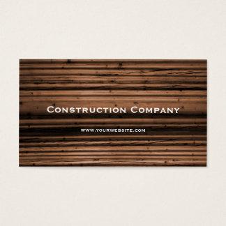 Wood Texture Construction Business Card