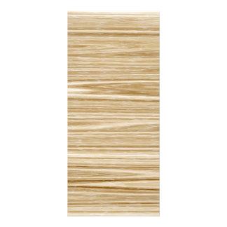 wood texture custom rack card