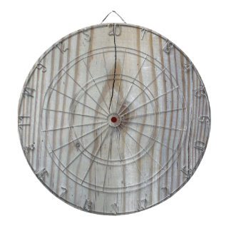 Wood Texture Dartboard With Darts