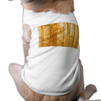 Wood Texture Dog Tshirt