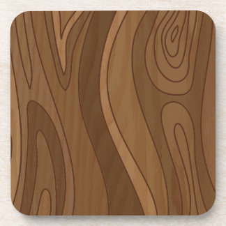 Wood texture drink coaster