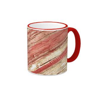 Wood Texture Ringer Coffee Mug
