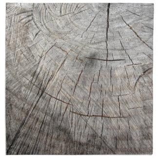 Wood texture of cut pine tree trunk cloth napkin