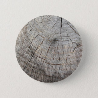 Wood texture of cut pine tree trunk pinback button