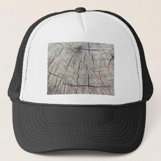 Wood texture of cut pine tree trunk trucker hat