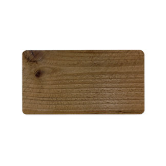 Wood texture of native timber personalized address label