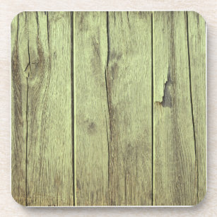 Wood Texture Olive Green Color Drink Coaster