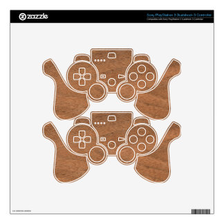 Wood texture PS3 controller decal