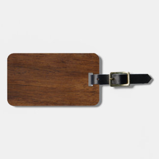 Wood Texture Rugged Construction Luggage Tag