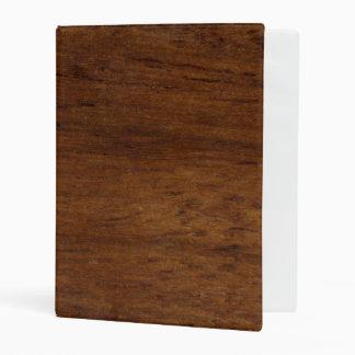 Wood Texture Rugged Construction Mini Binder