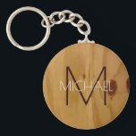 "wood texture rustic monogram , elegant keychain<br><div class=""desc"">A simple and elegant,  rustic and monogrammed design.</div>"