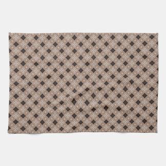 Wood Texture Trellis Diamond Hand Towel