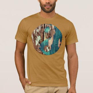 Wood Texture Yin Yang Men's T Shirt