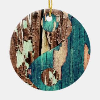 Wood Texture Yin Yang Ornament
