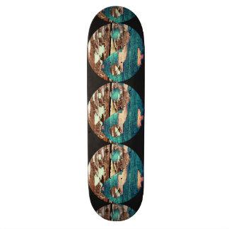 Wood Texture Yin Yang Skateboard
