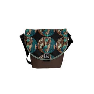 Wood Texture Yin Yang Small Messenger Bag