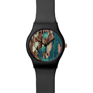 Wood Texture Yin Yang Watch