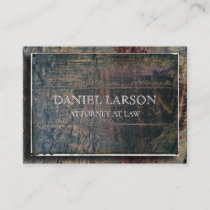 Wood Textured Raised Professional Business Card