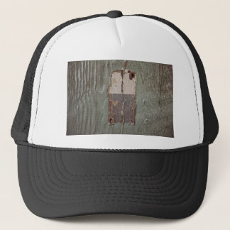 Wood Themed, Old Peeled Off Wood Texture Of A Door Trucker Hat