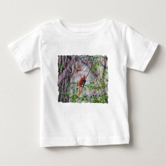 Wood Thrush Bird on Branch 2 Baby T-Shirt