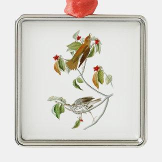 Wood Thrush John James Audubon Birds of America Metal Ornament