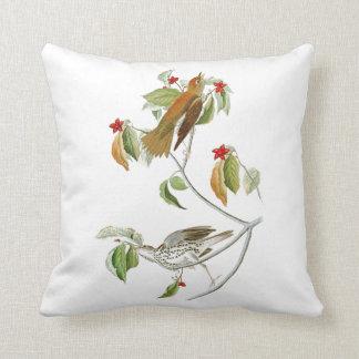 Wood Thrush John James Audubon Birds of America Throw Pillow