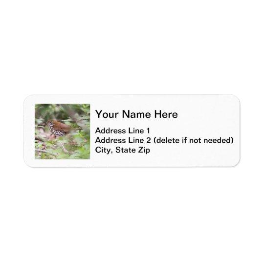Wood Thrush Label