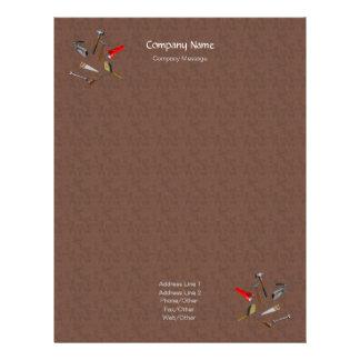 Wood Tiles Tools Stationery Letterhead