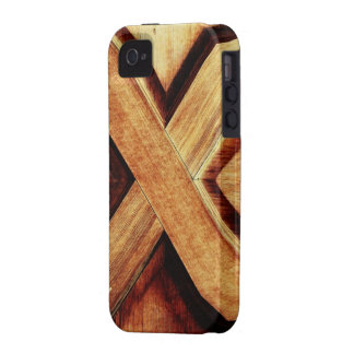 Wood Tone X iPhone 4/4S Cover