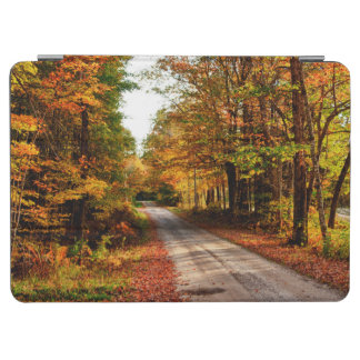 Wood trail with fall foliage iPad air cover