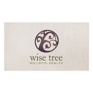 Wood Tree Alternative Medicine and Holistic Health Business Cards
