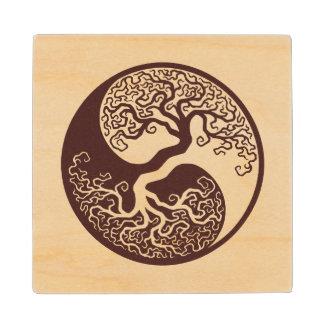 Wood Tree of Life Yin Yang Wooden Coaster
